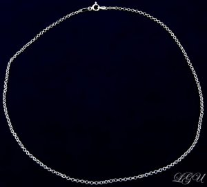 """STERLING SILVER ITALIAN ROLO CHAIN NECKLACE 16"""" 2mm 040"""