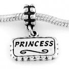 STERLING SILVER DANGLING PRINCESS EUROPEAN STYLE BEAD
