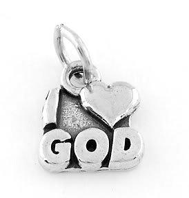 STERLING SILVER I LOVE GOD CHARM/PENDANT
