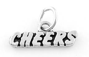STERLING SILVER CHEERS CHARM/PENDANT