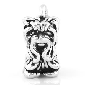 STERLING SILVER TOY YORKSHIRE TERRIER CHARM/PENDANT