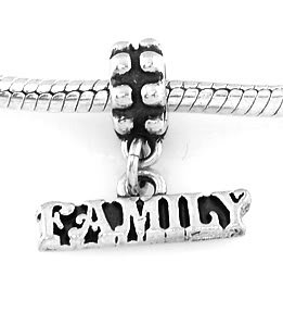 STERLING SILVER DANGLING FAMILY EUROPEAN STYLE BEAD