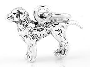 STERLING SILVER LABRADOR RETRIEVER DOG CHARM/PENDANT