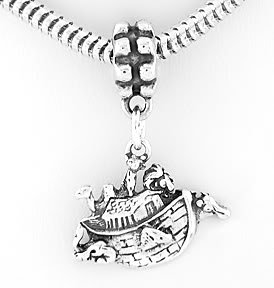 STERLING SILVER DANGLING NOAH'S ARK EUROPEAN BEAD