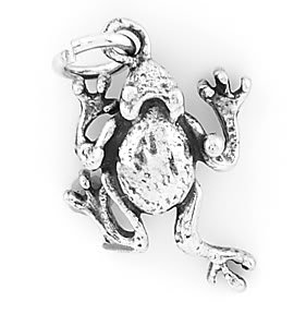 STERLING SILVER FROG CHARM/PENDANT