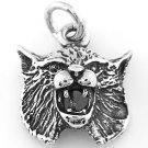 STERLING SILVER BOBCAT CHARM/PENDANT
