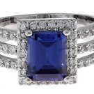 2.5 CT Imitation Tanzanite CZ Cocktail/ Engagement Ring