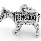 STERLING SILVER POLITICAL PARTY DEMOCRAT DONKEY CHARM