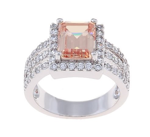 2.5 CT. Cognac / Champagne CZ Cocktail/ Engagement Ring Size 7