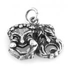 STERLING SILVER DRAMA COMEDY TRAGEDY MASK CHARM/PENDANT