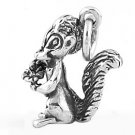 STERLING SILVER 3D SKUNK HOLDING A FLOWER CHARM/PENDANT