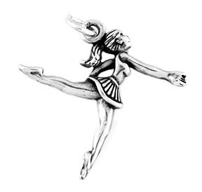 STERLING SILVER LEAPING BALLERINA CHARM