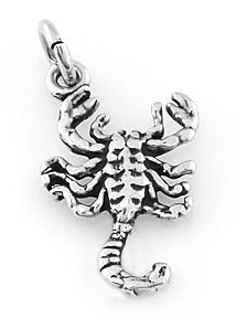 STERLING SILVER SCORPION CHARM/PENDANT