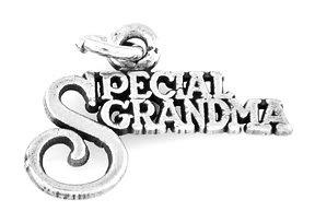 "STERLING SILVER SPECIAL GRANDMA CHARM W/ 16"" BOX CHAIN"