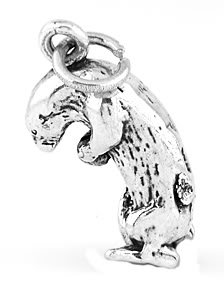 STERLING SILVER SEA OTTER 3D CHARM/PENDANT