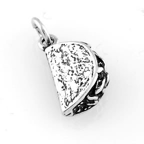 STERLING SILVER 3D TACO CHARM