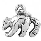 STERLING SILVER 3D LONG TAIL RACCOON CHARM
