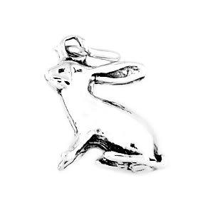 STERLING SILVER LONG EAR RABBIT/ BUNNY CHARM/PENDANT