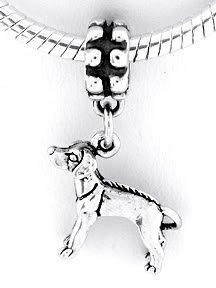 STERLING SILVER DANGLE RHODESIAN RIDGE BACK DOG EUROPEAN BEAD