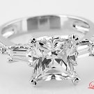 STERLING SILVER 925 PRINCESS CZ ENGAGEMENT RING Sz 9
