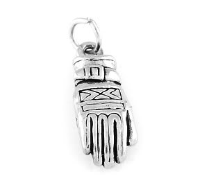 STERLING SILVER SNOW SKI SKIING GLOVE CHARM