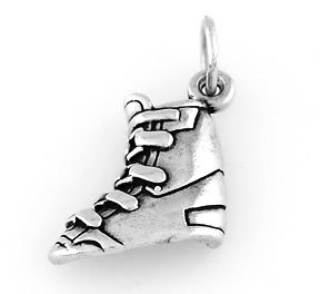 STERLING SILVER SNOW SKI SKIING BOOT CHARM