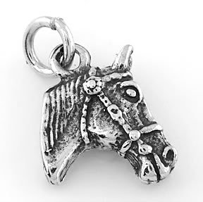 STERLING SILVER HORSE HEAD CHARM/PENDANT