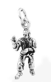 STERLING SILVER TAE KWON DO INSTRUCTOR CHARM