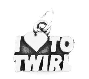 STERLING SILVER I LOVE TO TWIRL CHARM