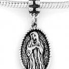STERLING SILVER DANGLING VIRGIN MARY EUROPEAN BEAD