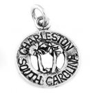 STERLING SILVER CHARLESTON, SC W/ TREES CHARM/PENDANT