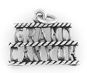 STERLING SILVER GRAND CANYON TRAVEL CHARM