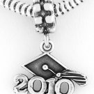 STERLING SILVER DANGLE CLASS OF 2010 GRADUATION BEAD