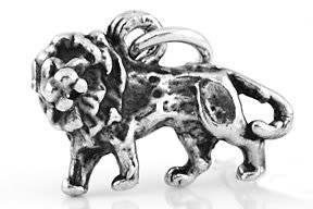 STERLING SILVER 3D SIMBA STYLE LION  CHARM
