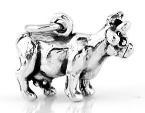 STERLING SILVER LIVESTOCK COW CHARM