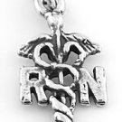 STERLING SILVER RN REGISTERED NURSE CHARM/PENDANT