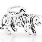 STERLING SILVER WALKING TIGER 3D CHARM/PENDANT