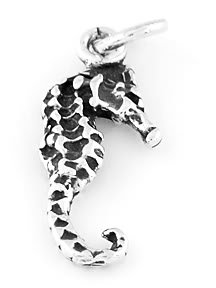 STERLING SILVER SEAHORSE CHARM/PENDANT