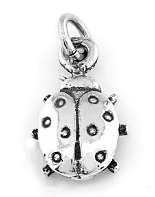 STERLING SILVER LADYBUG CHARM/PENDANT
