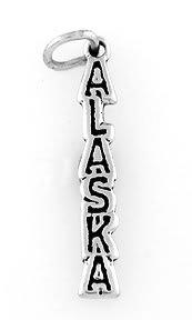 STERLING SILVER ALASKA TRAVEL CHARM