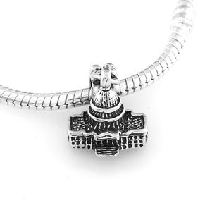 STERLING SILVER DANGLING CAPITOL BUILDING EUROPEAN BEAD