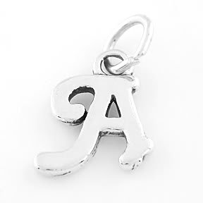 STERLING SILVER FANCY LETTER A CHARM/PENDANT