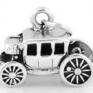 STERLING SILVER 3D STAGECOACH CHARM/ PENDANT