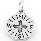 STERLING SILVER COMPASS CHARM/PENDANT