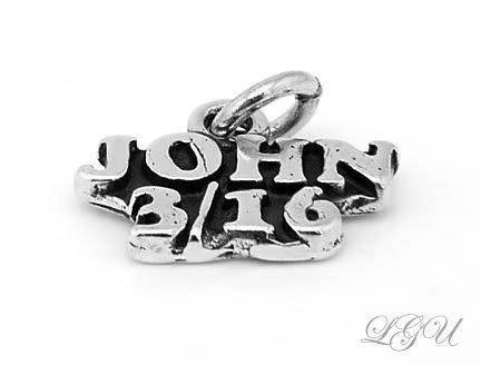STERLING SILVER  JOHN 3/16 CHARM/PENDANT