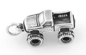 STERLING SILVER 4X4 TRUCK CHARM/PENDANT