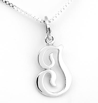 """STERLING SILVER INITIAL I & 18"""" Box Chain"""