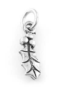 STERLING SILVER HOLLY CHARM/PENDANT