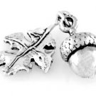 STERLING SILVER 3D ACORN and OAK LEAF CHARM
