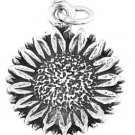 STERLING SILVER SUNFLOWER CHARM/PENDANT